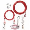 2 Cables plastificados, muelle, Extra, 15 m, Rojo
