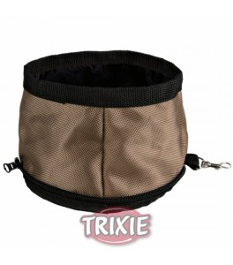 Trixie Bebedero viaje, nylon, Plegable, 2, 1l, col. surt.