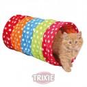 Trixie Tunel juego, Felpa, ø 25x50 cm, colorido