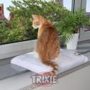 Trixie Plataforma gatos CosyPlace, Ventana, 51×36, Blanco