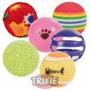 Trixie 6 pelotas surtidas, ø 3, 5-4 cm, color surtido