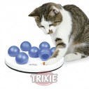 Trixie Cat Activity Solitario, ø 20 cm, blanco/Azul