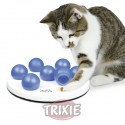 Trixie Cat Activity Solitario, ø 20 cm, blanco/Azul