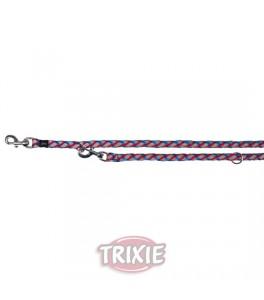Trixie Ramal Cavo Reflect talla L/XL de color Azul/Rojo para perro