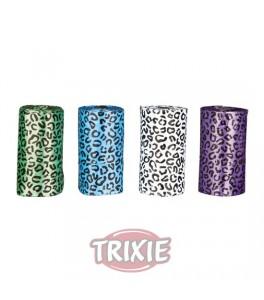 Trixie 4 Rollos de 20 bolsas basura L, colores surtidos para perro