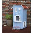 Trixie Caseta Exterior Gatos, 56x94x59cm, Azul Claro-Blanco