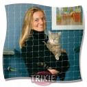 Trixie Red protección, 3x2 m, Negro
