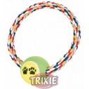 Trixie Anilla de algodón con pelota de tenis