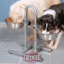 Trixie Soporte barra curvada, 2 comederos 2.8 lts