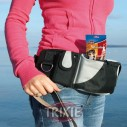 Trixie Cinturón bolsa nylon extra, 62?125cm, ngr/Gris