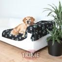 Trixie Manta afelpada Barney, 150x100 cm, Negro/Gris